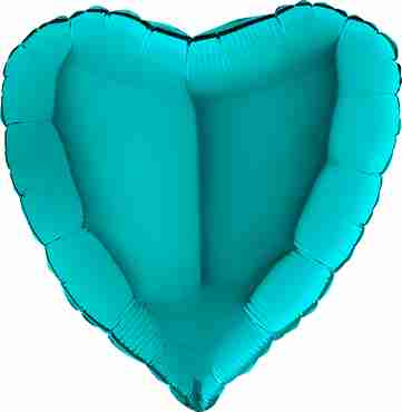 Tiffany Foil Heart 18in/45cm