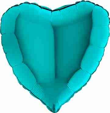 Tiffany Foil Heart 18in/45cm