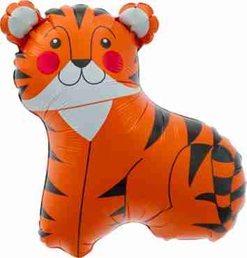 Tiger Foil Shape 14in/35cm