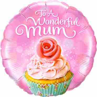 To A Wonderful Mum Cupcake Foil Round 18in/45cm