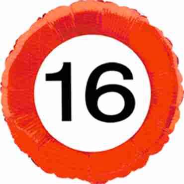 Traffic Sign 16 Foil Round 18in/45cm
