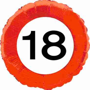 Traffic Sign 18 Foil Round 18in/45cm
