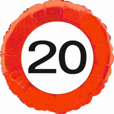 Traffic Sign 20 Foil Round 18in/45cm
