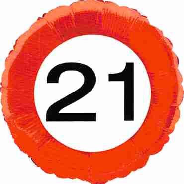 Traffic Sign 21 Foil Round 18in/45cm