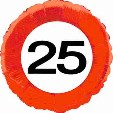Traffic Sign 25 Foil Round 18in/45cm
