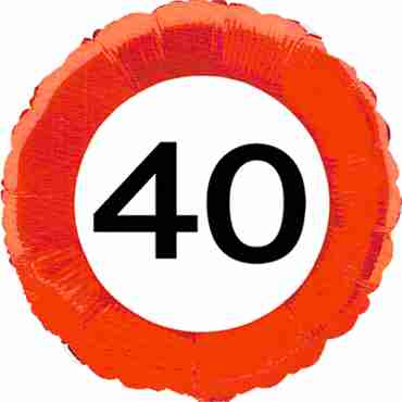 Traffic Sign 40 Foil Round 18in/45cm