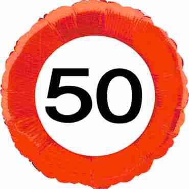 Traffic Sign 50 Foil Round 18in/45cm
