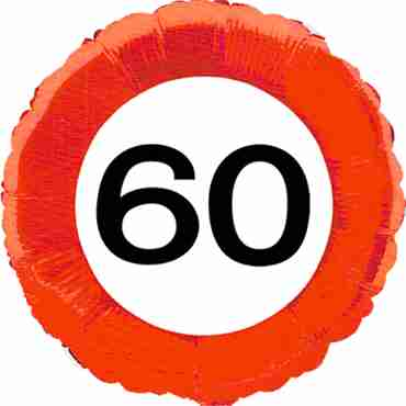Traffic Sign 60 Foil Round 18in/45cm