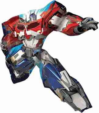 transformers foil shape 32in/81cm x 35in/88cm