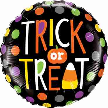 Trick Or Treat Dots Foil Round 18in/45cm