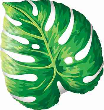 Tropical Philodendron Foil Shape 21in/53cm