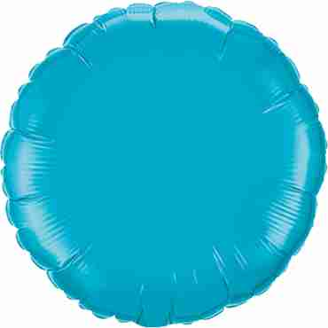 Turquoise Foil Round 18in/45cm