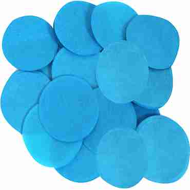 Turquoise Paper Round Confetti (Flame Retardant) 15mm 14g