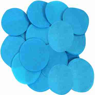 Turquoise Paper Round Confetti (Flame Retardant) 25mm 14g