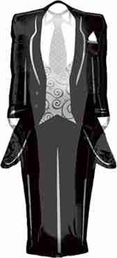 Tuxedo Foil Shape 36in/91cm x 15in/38cm