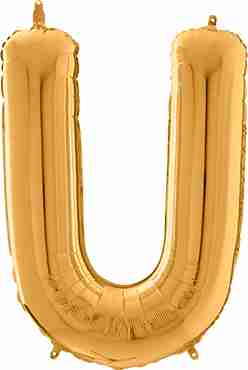 U Gold Foil Letter 26in/66cm