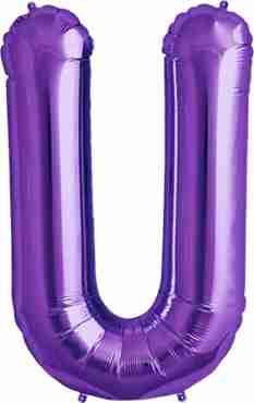 U Purple Foil Letter 34in/86cm