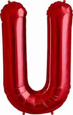 U Red Foil Letter 34in/86cm
