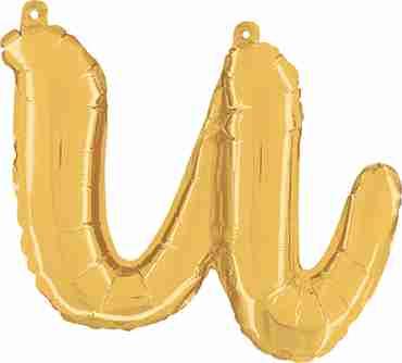 U Script Gold Foil Letter 14in/36cm