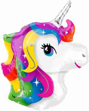 unicorn head vendor foil shape 17in/43cm x 22in/56cm