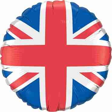 Union Jack Foil Round 18in/45cm
