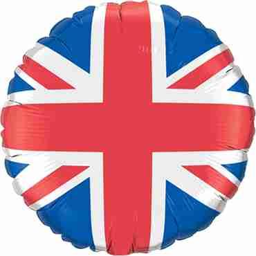Union Jack Foil Round 18in/45cm