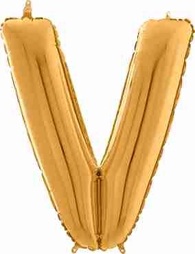 V Gold Foil Letter 26in/66cm
