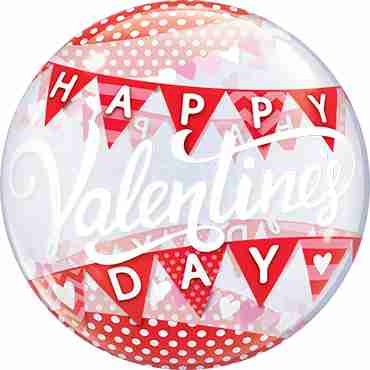 Valentines Day Banners Single Bubble 22in/55cm
