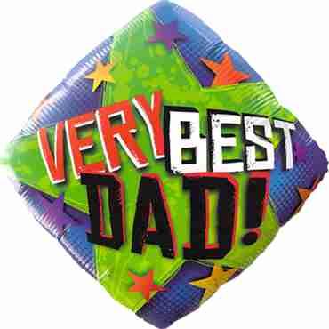 Very Best Dad Stars Foil Diamond 18in/45cm