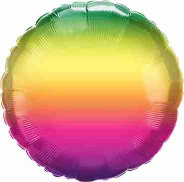 Vibrant Ombre Foil Round 18in/45cm