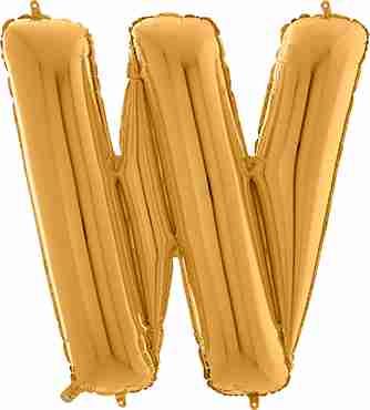 W Gold Foil Letter 26in/66cm