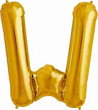 W Gold Foil Letter 34in/86cm