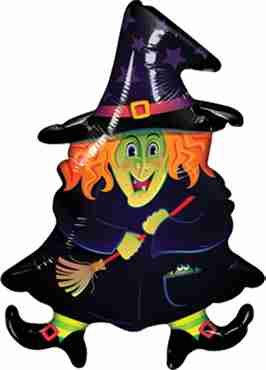 Wacky Witch Foil Shape 14in/35cm