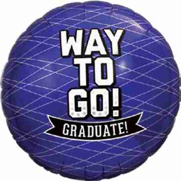 Way To Go Grad - Purple Foil Round 18in/45cm
