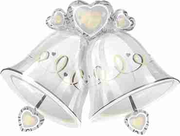 wedding bells foil shape 35in/87cm x 26in/65cm