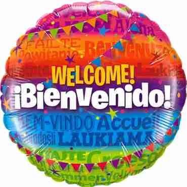 Welcome! Bienvenido Foil Round 18in/45cm