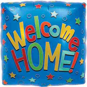 Welcome Home Foil Square 18in/45cm