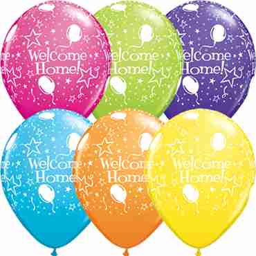 Welcome Home! Stars Tropical Assortment Latex Round 11in/27.5cm