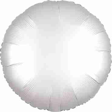 White Satin Luxe Foil Round 17in/43cm