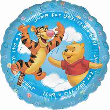 Winnie The Pooh - It's A Boy Foil Round 18in/45cm