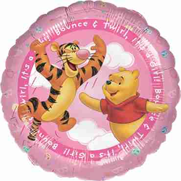 Winnie The Pooh - It's A Girl Foil Round 18in/45cm