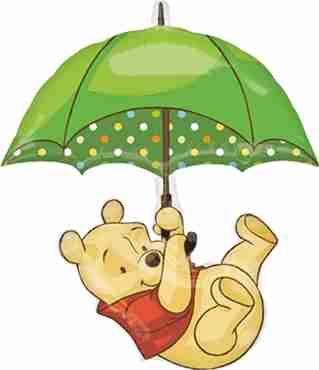 Winnie the Pooh Foil Shape 30in/76cm x 35in/89cm