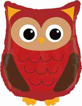 Woodland Owl Foil Shape 26in/66cm