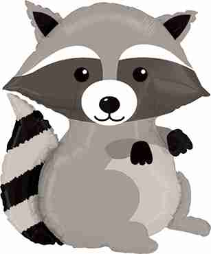Woodland Raccoon Foil Shape 36in/91cm