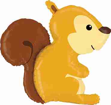 Woodland Squirrel Foil Shape 36in/91cm