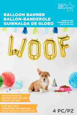 Woof Kit Gold Foil Letters 16in/40cm