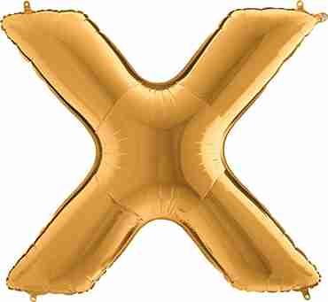 X Gold Foil Letter 7in/18cm