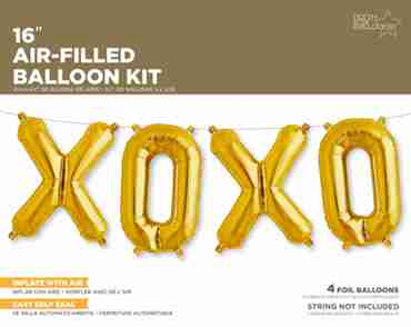 XOXO Kit Gold Foil Letters 16in/40cm