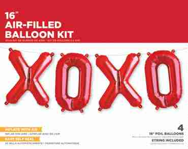 XOXO Kit Red Foil Letters 16in/40cm