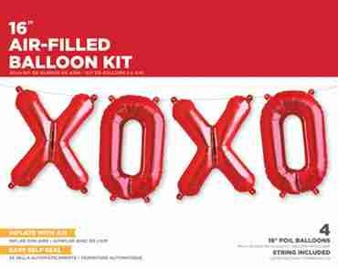 XOXO Kit Red Foil Letters 16in/40cm